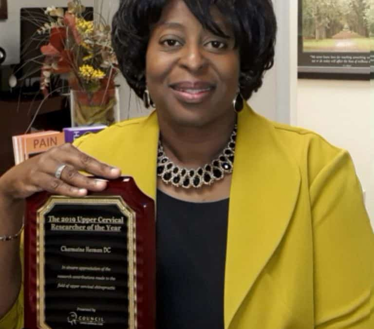 Dr. Charmaine Herman Wins Upper Cervical Researcher of the Year
