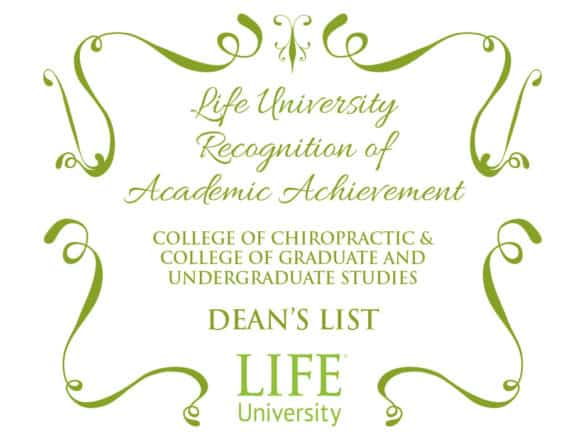 graphic announcing the publication of the Dean's List