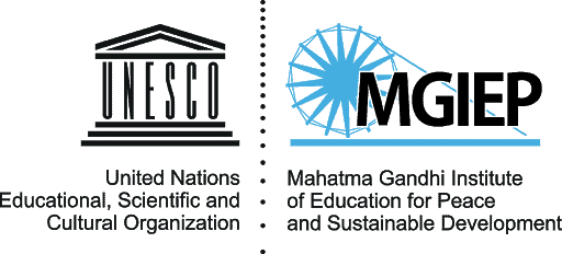 logo for United Nations Educational, Scientific and Cultural Organization and the Mahatma Gandhi Institute of Education for Peiace and Sustainable Development