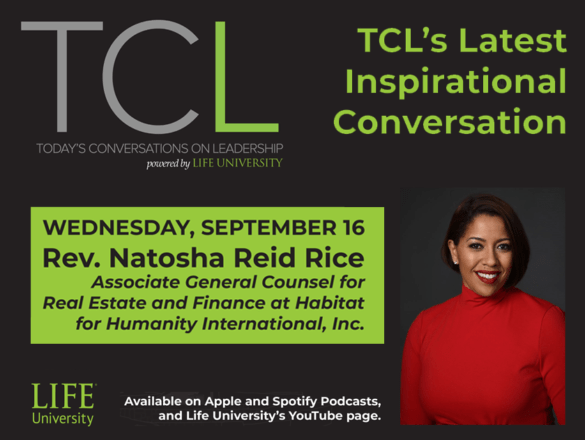 image announcing Rev. Natosha Reid Rice as the guest on the September 16, 2020 podcast
