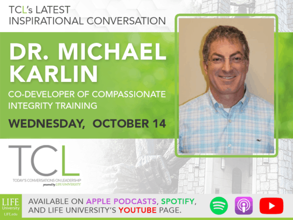image announcing Dr. Michael Karlin as the guest on the October 14, 2020 podcast