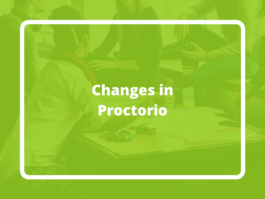 Changes in Proctorio