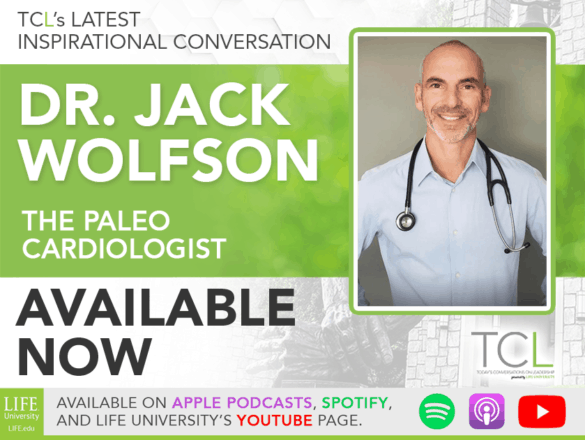 banner announcing the release of the. TCL podcast episode featuring Dr. Jack Wolfson