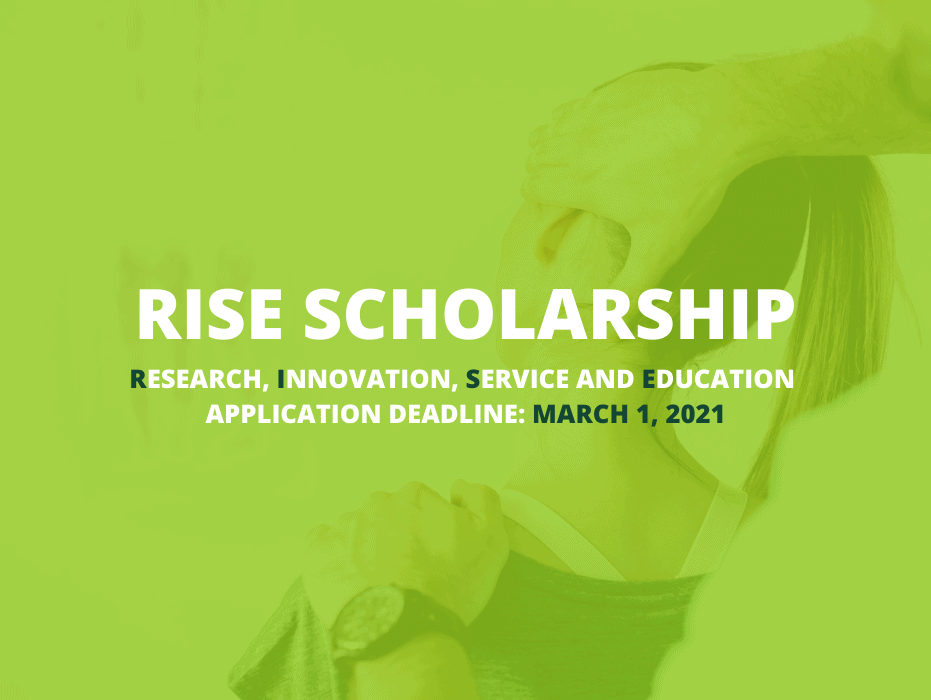 RISE Scholarship Deadline: March 1, 2021