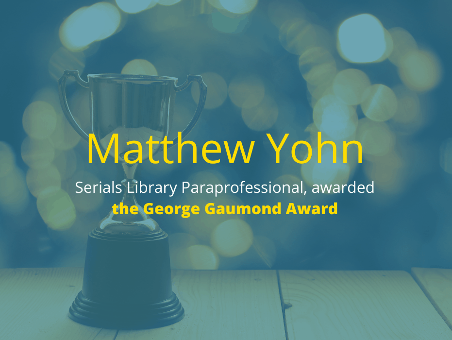 Matthew Yohn Awarded the George Gaumond Award